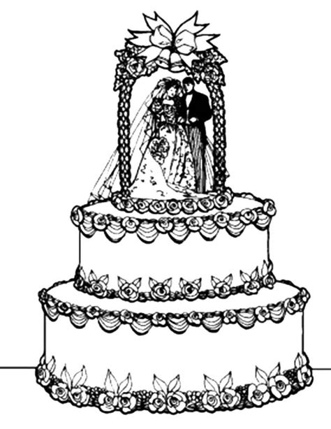 awesome wedding cake coloring pages awesome wedding cake