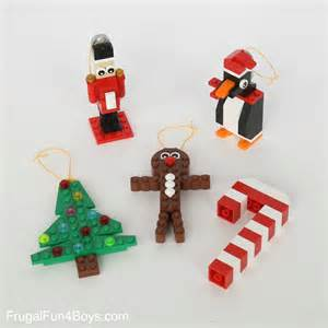 five lego christmas ornaments with building instructions frugal fun for boys and girls