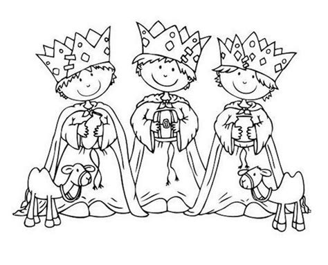 imagenes para pintar reyes magos dibujos de los reyes magos 161 para colorear pequeocio