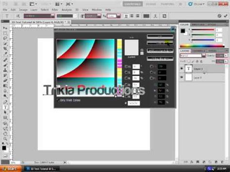 photoshop cs5 tutorial 3d text with a drop shadow youtube adobe photoshop cs3 cs4 cs5 3d text tutorial youtube