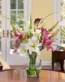 Bowl Vase Centerpiece Buy Calla Lily Amp Rubrum Lily Silk Flower Arrangement At Petals