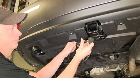 installation of a trailer wiring harness on a 2013 lexus