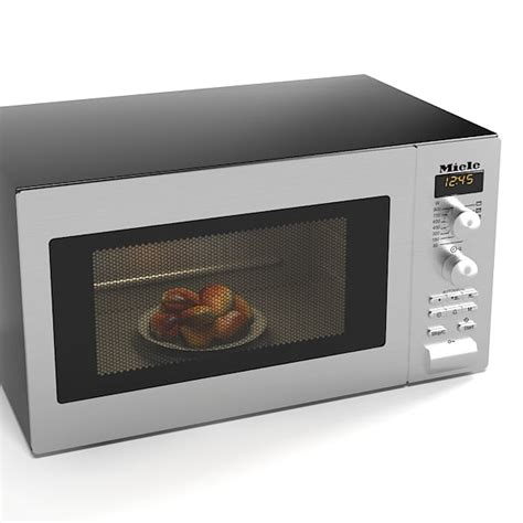 miele microwave miele freestanding microwave oven 3d model