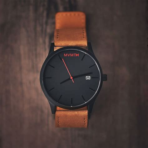 original mvmt watches black with leather