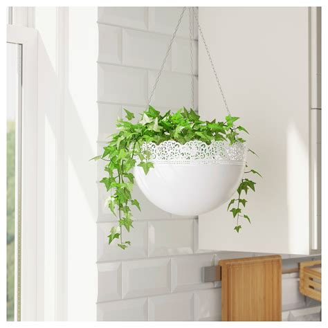 ikea outdoor planters skurar hanging planter in outdoor white 30 cm ikea