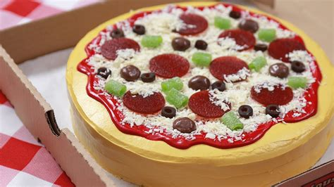 pizza cake images how to make a cake pizza nerdy nummies