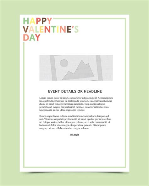 Valentines Day Email Marketing Templates Email Templates Emma Email Marketing Day Email Template
