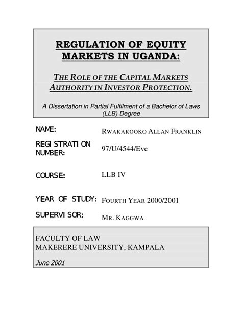 undergraduate thesis about education allan rwakakooko undergraduate thesis