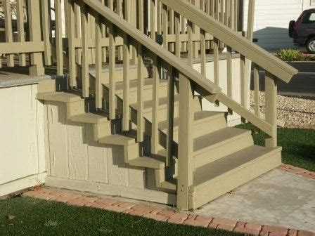 wooden steps easy  work  mobile home stairs