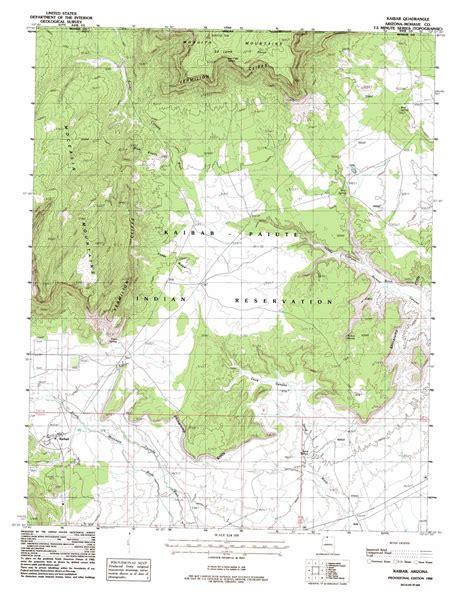 usgs maps kaibab topographic map az usgs topo 36112h6