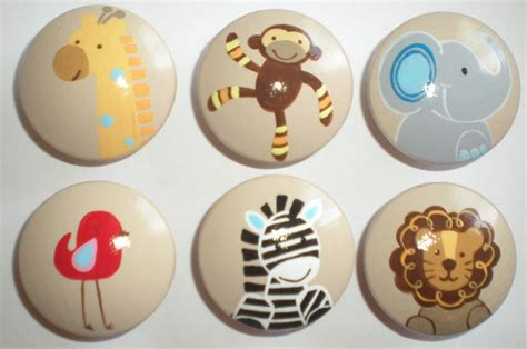 Jungle Drawer Knobs jungle animals safari childrens drawer cabinet knobs pulls
