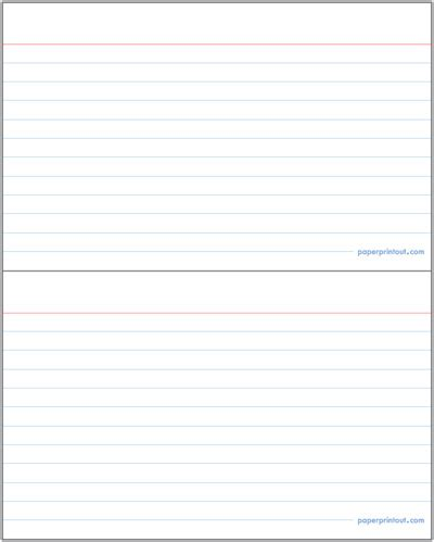 lined index card template microsoft word index card template cyberuse