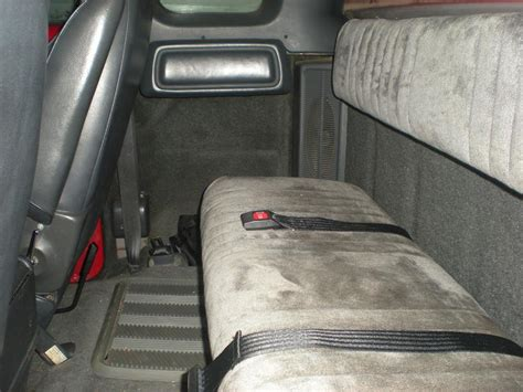 dodge dakota bench seat club cab rear bench conversion finished dodge diesel