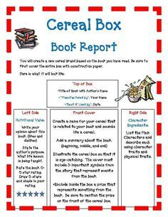 book report alternatives cereal box book reports this is a great alternative to