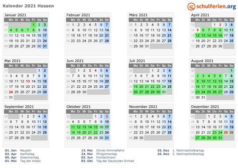 kalender  ferien hessen feiertage