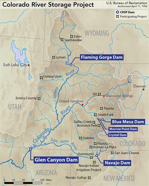 blue river colorado map images colorado river storage project