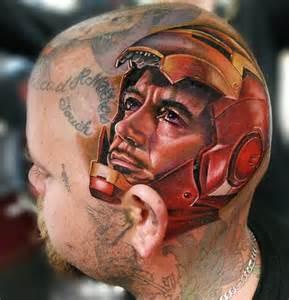 head ironman tattoo by cecil porter