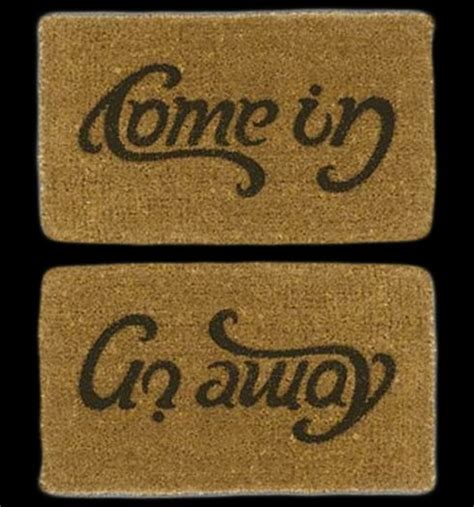 Come In Go Away Rug by Second Marketplace Come In Go Away Doormat