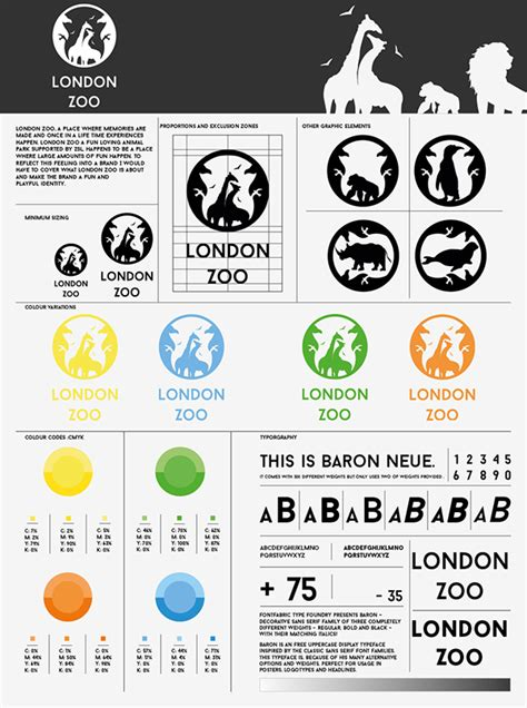 zoo design guidelines lodon zoo rebrand on behance