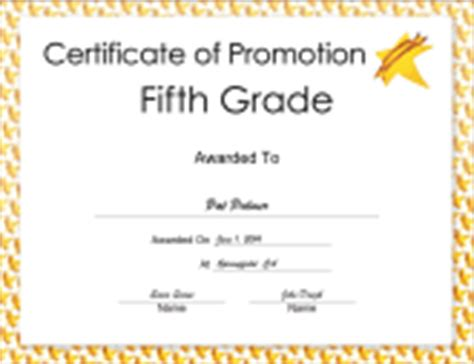 5th grade graduation certificate template diplomas free printable certificates