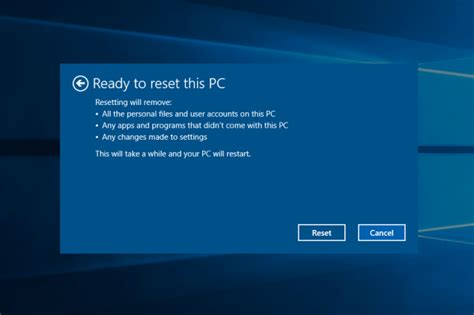 hp resetting your pc 1 how to restore your windows pc to factory settings