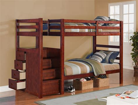 bunk bed with stairs and drawers twin twin drawer stair bunk bed