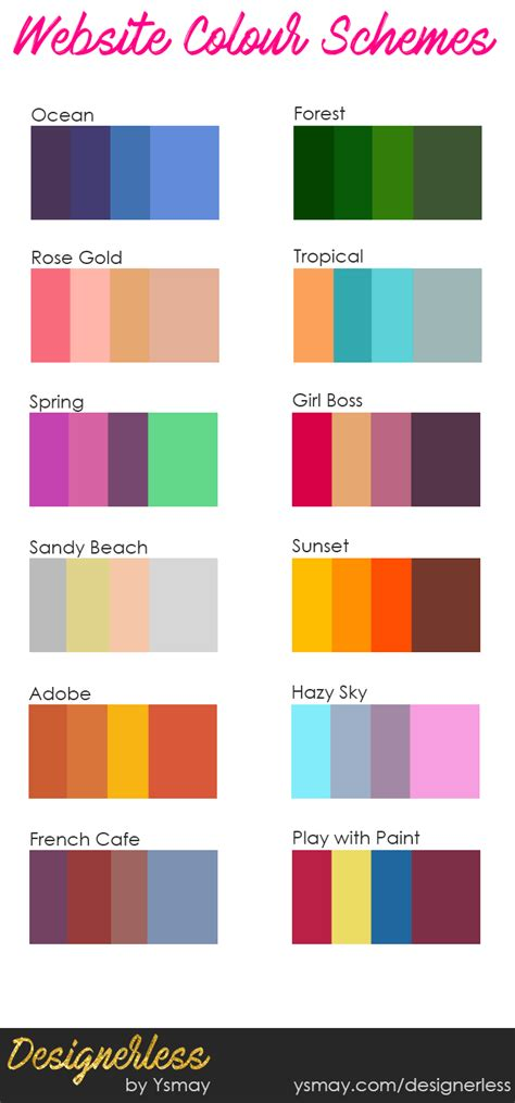 website color schemes 2016 creative colour schemes for diy website projects