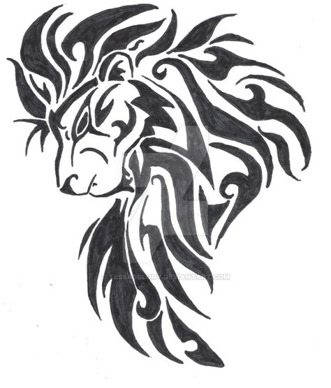 tribal lion head tattoos 82 design sketches