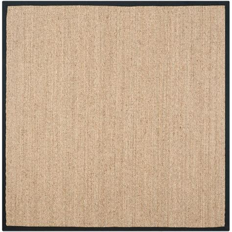 8 Ft Square Area Rugs Safavieh Fiber Beige Black 8 Ft X 8 Ft Square Area Rug Nf115c 8sq The Home Depot