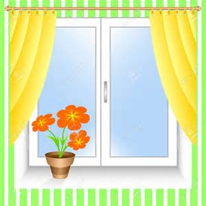 Red And Yellow Kitchen Curtains by Windowsill Clipart Clipground