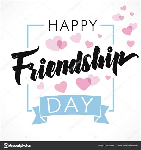 Friendship Day Card Template by Happy Friendship Day Greeting Card Stock Vector