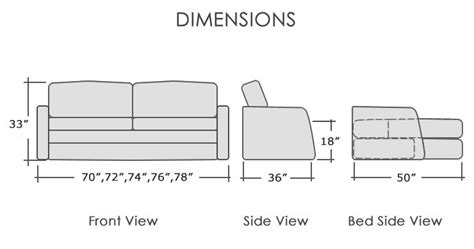 pull out couch dimensions sofa bed dimensions thesofa