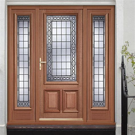 Exterior Hardwood Door Creedmore Exterior Hardwood Door And Frame Set With Two Side Screens And Matching Glazing