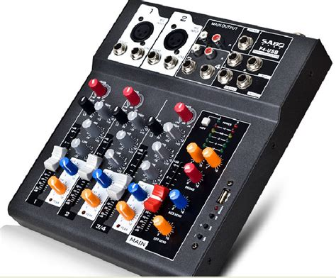 Power Mixer Audio Seven f4 usb mini audio mixer console with usb built in effect