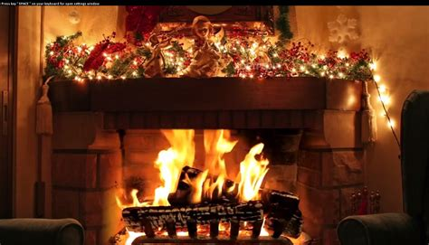 christmas fireplace screensaver download
