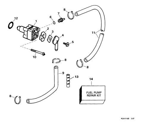 evinrude 15 hp fuel diagram evinrude fuel parts for 1999 15hp e15r4eeb outboard motor