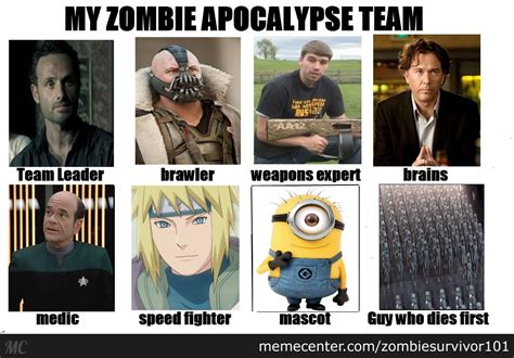 My Zombie Apocalypse Team Meme Creator - this is my zombie apocalypse team by zombiesurvivor101