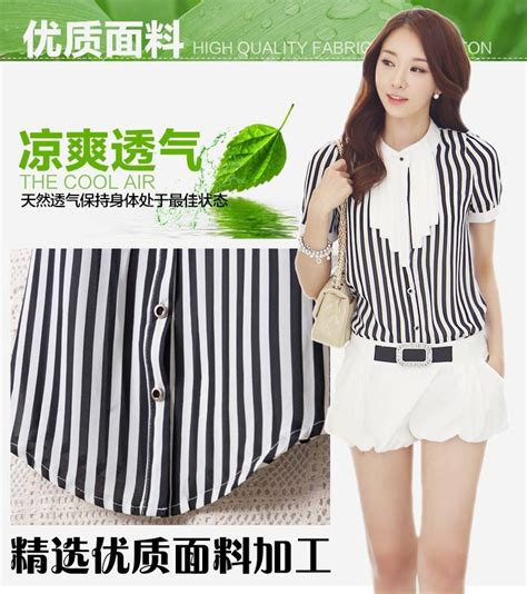wallpaper garis garis hitam putih blouse wanita garis garis hitam putih model terbaru