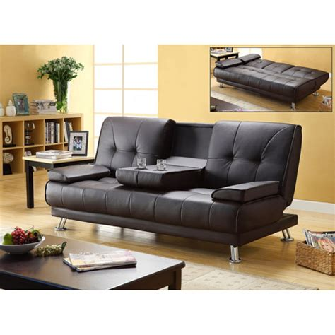 futon with cup holders primo international flash studio convertible futon sofa