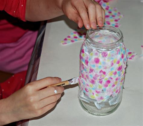 Decorating glass jars   ofamily learning together