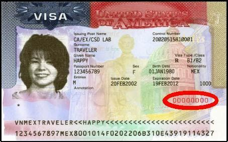 You Can Do As An Mba H1b by Where Is The Visa Number On A U S Visa Citizenpath