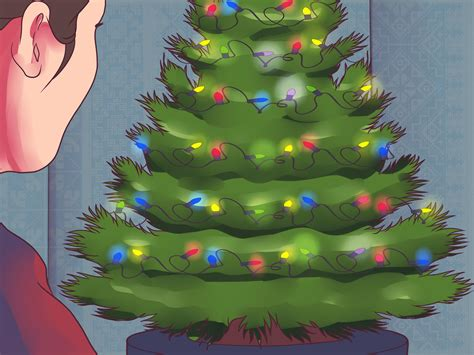 how to hang lights on a tree 3 ways to hang lights on a tree wikihow