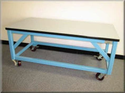 work bench on wheels heavy duty tables large work tables rdm industrial products