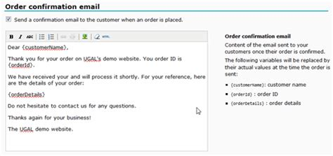 order received email template automated order confirmation emails ugal