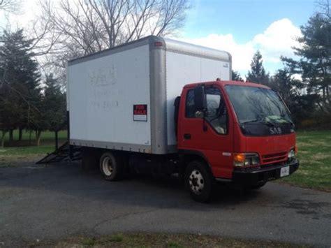 buy used isuzu diesel npr 12ft box truck automatic a c