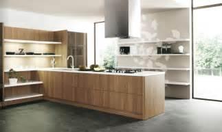 Wood slab modern kitchen units interior design ideas