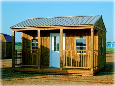 graceland side porch cabin discount portable buildings