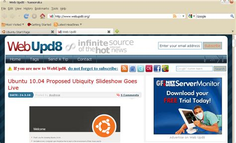 firefox themes ubuntu ubuntu radiance firefox theme web upd8 ubuntu linux blog