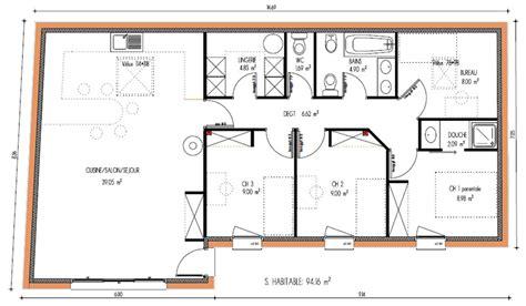 Plan Maison 120m2 Plain Pied 4349 by Pr 233 Visions De Maisons 224 Contruire En Loire Atlantique 44