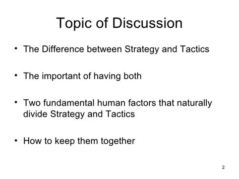 What Is The Difference Between Pmp And Mba by Strategy Versus Tactics Presentation 20081029